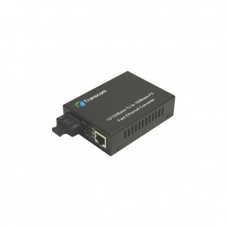 Mediaconvertor 10/100M 1310nm MM 2Km / SM 10km conector SC - TRANSCOM