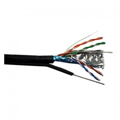 Cablu FTP cu sufa, Cupru, categoria 5e, 24AWG, manta PE, Emtex (305m)