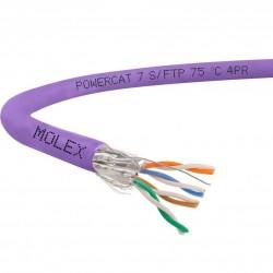 Cablu S/FTP cat.7, manta LSZH, Euroclass Eca - 1000m/tambur, Violet - Molex