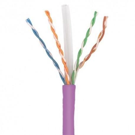 Cablu U/UTP cat.6, manta LSZH, Euroclass Dca-s2,d2,a1 - 500m/tambur, Violet - Molex