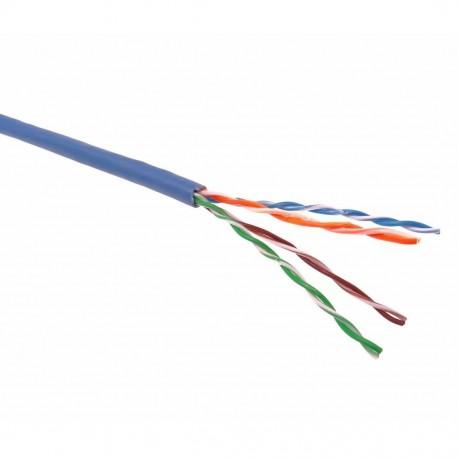 Cablu UTP cat.5e, patch,CU litat, AWG24, albastru / Premium Cord