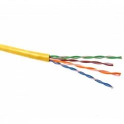 Cablu UTP cat.5e, patch,CU litat, AWG24, galben / Premium Cord