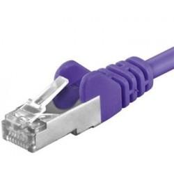 Patchcord SFTP RJ45-RJ45 Cat.6A, 0.25m, violet