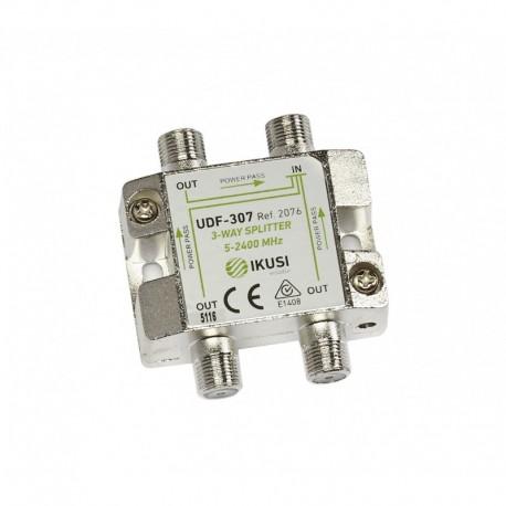 Splitter TV PowerPass IKUSI 3 iesiri 5-2.400 MHz