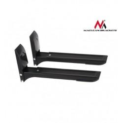 Suport universal de perete pentru cuptor cu microunde, fix, brate reglabile, maxim 35kg, Negru, MACLEAN MC-607B