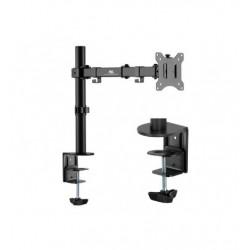 Suport de birou pentru monitor, brat dubla articulatie, 17 - 32 inch, Negru, Maclean, MC-883