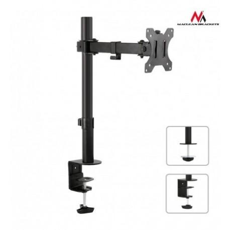 Suport de birou pentru monitor, reglabil, 13- 32 inch, Negru, Maclean, MC-752