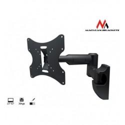 Suport metalic Reglabil pentru Televizor TV sau Monitor cu Diagonala intre 23-42 inch, Negru, Maclean MC-503B