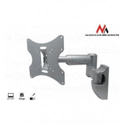 Suport TV LCD/LED Maclean argintiu MC-503A S 10-37 inch inclinare verticala