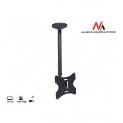 Suport TV de tavan/plafon, LCD/LED, reglabil inaltime, 23 - 42 inch, Negru, Maclean MC-504B