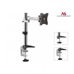 Suport de birou pentru monitor LCD/LED Maclean negru/argintiu MC-717 13-27 inch