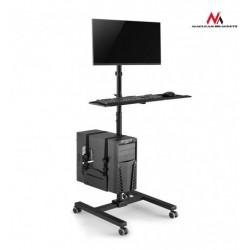Stand TV profesional, mobil, pentru prezentare,suport tastatura si PC, 17-32 inch, Maclean MC-793