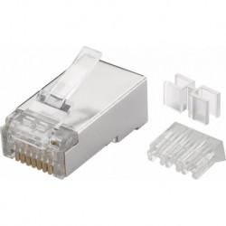 Mufa RJ45 FTP cat.6A 50 microni cu ghidaj (10 buc)