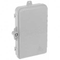 Cutie de distribuție FO, FTTH de exterior pentru 4 x SC - simplex sau 4 x LC - duplex, 206x135x40mm - IP65