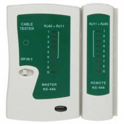 Tester cablu UTP, FTP, telefonie - RJ45, RJ11, RJ12 - NS-468