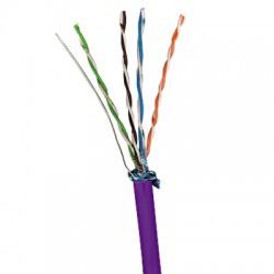 Cablu F/UTP cat.5e, manta LSZH, Euroclass Dca-s1,d2,a1 - 305m/tambur, violet - Molex
