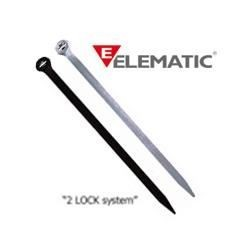 Brida plastic 2-LOCK 4,5 x 290 black (100buc) - ELEMATIC