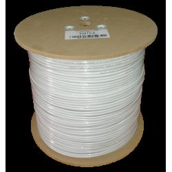 Cablu coaxial RG59 + alimentare 2x0,75 (central Cu + tresa Cu-Al +alimentare Cu) - EMTEX (305m/tambur)