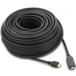 Cablu HDMI-HDMI V1.4 Ethernet, cu amplificator, tripluecranat, aurit, 20m, PremiumCord