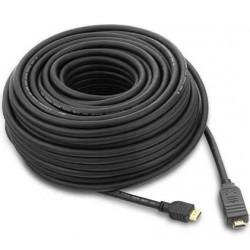 Cablu HDMI-HDMI V1.4 Ethernet, cu amplificator, tripluecranat, aurit, 25m, PremiumCord