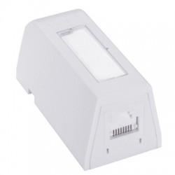Priza aplicata Synergy Wallplate DG+ 1xRJ45 568A/B UTP PowerCat 5e, White - Molex
