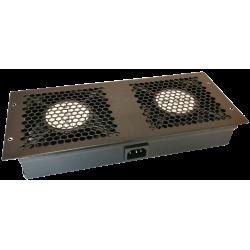 Modul ventilatie plafon 2 fan + cablu, interconectabil,  pentru rack de podea - DATEUP