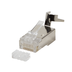 Mufa RJ45 FTP cat. 6, 6A, 7, 23AWG, 50 microni cu ghidaj pentru fir de maxim 8mm (10 buc) - LogiLink