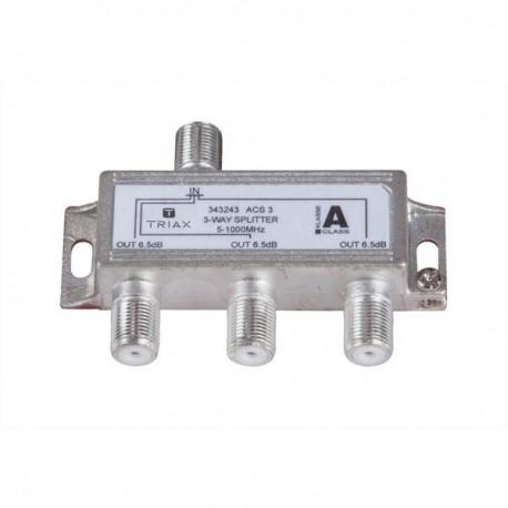 Splitter 3 iesiri 5-1000 MHz, atenuare 6.5dB, TRIAX seria GOLD - ACS 3