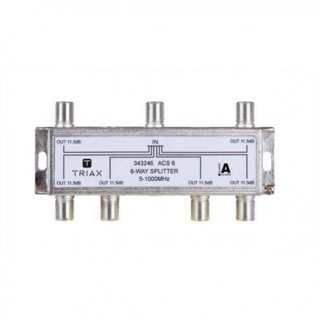 Splitter 6 iesiri 5-1000 MHz, atenuare 11.5dB, TRIAX seria GOLD - ACS 6