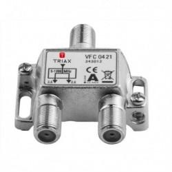 Splitter 2 iesiri 5-1200 MHz, CATV cu DOCSIS 2.0 / 3.0 / 3.1, TRIAX seria PLATINUM - VFC 0421