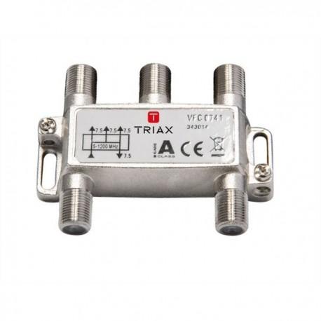 Splitter 4 iesiri 5-1200 MHz, CATV cu DOCSIS 2.0 / 3.0 / 3.1, TRIAX seria PLATINUM - VFC 0741