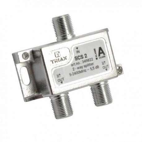 Splitter 2 iesiri 5-2400 MHz, TRIAX seria SILVER - SCS 2