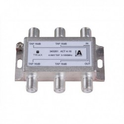 Splitter 4 iesiri TAP 16dB, 5-1000 MHz, TRIAX seria GOLD - ACT 4-16