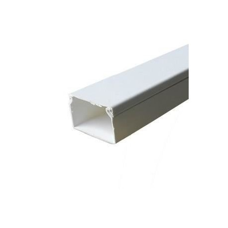 Canal cablu PVC 40X40MM 2M/BUC, alb - Canalux
