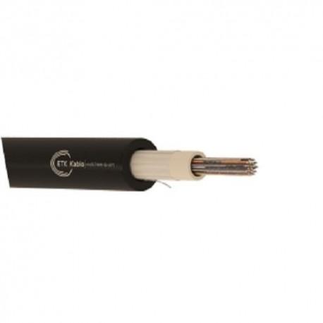 Cablu fibra optica SM 24 fibre, int/ext, 1200N, protectie la rozatoare,  monotube, in gel, manta PE, negru, ETK