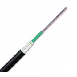 Cablu fibra optica MM OM4 12 fibre de int/ext, Glass-Yarn armouring, manta FRNC/LSZH, negru, U-DQ(ZN)BH 1x12 E9, Corning