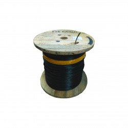 Cablu fibra optica MM, OM3, 50/125 6 fibre, int/ext, 1200N, protectie la rozatoare, monotube, in gel, manta PE, negru, ETK