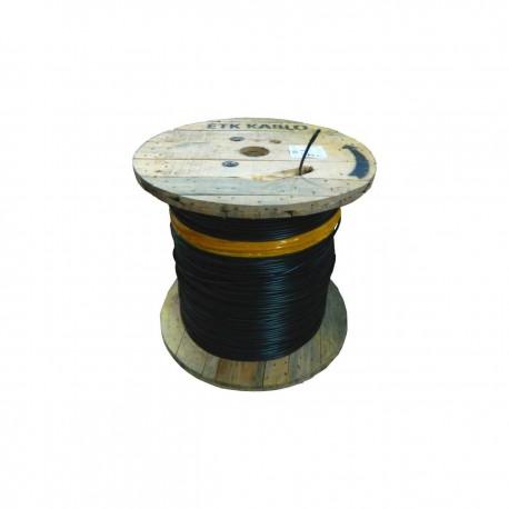 Cablu fibra optica MM, OM4, 50/125 8 fibre, int/ext, 1200N, protectie la rozatoare, monotube, in gel, manta PE, negru, ETK