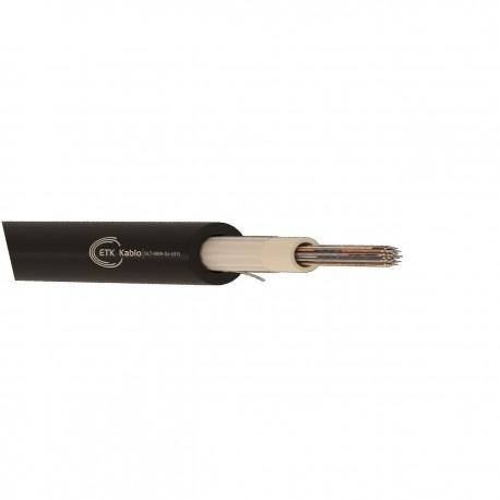 Cablu fibra optica MM, OM2, 50/125 24 fibre, int/ext, 1200N, protectie la rozatoare, monotube, in gel, manta PE, negru, ETK
