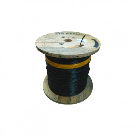 Cablu fibra optica MM, OM3, 50/125 12 fibre, int/ext, 1200N, protectie la rozatoare, monotube, in gel, manta PE, negru, ETK