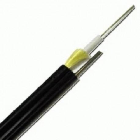 Cablu fibra optica 8 fibre, exterior, 2700N, cu sufa otel, protectie la rozatoare, armarta, monotube, in gel, manta PE, negru, ETK