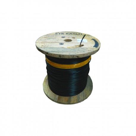 Cablu fibra optica MM, OM3, 50/125  8 fibre, int/ext, 1200N, protectie la rozatoare,  monotube, in gel, manta PE, negru - ETK