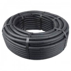 Tub gofrat ignifug diametrul exterior 16 mm , negru-MTR 100ML/ROLA