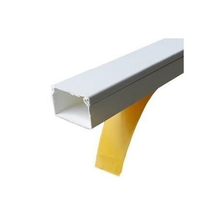 Canal cablu PVC cu adeziv 20X10MM 2M/BUC, alb - Canalux