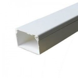 Canal cablu PVC 80X40MM 2M/BUC, alb - Canalux