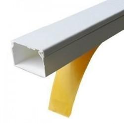 Canal cablu PVC cu adeziv 40X16MM 2M/BUC, alb - Canalux