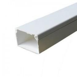 Canal cablu PVC 80X60MM 2M/BUC, alb - Canalux