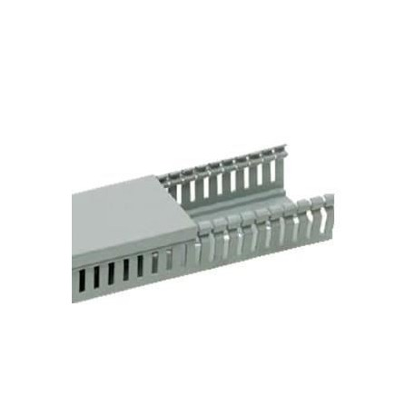 Canal cablu PVC perforat 40X80MM 2M/BUC, gri - Canalux