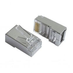 Mufa RJ45 FTP cat.5e 30 microni, cablu solid(100buc)