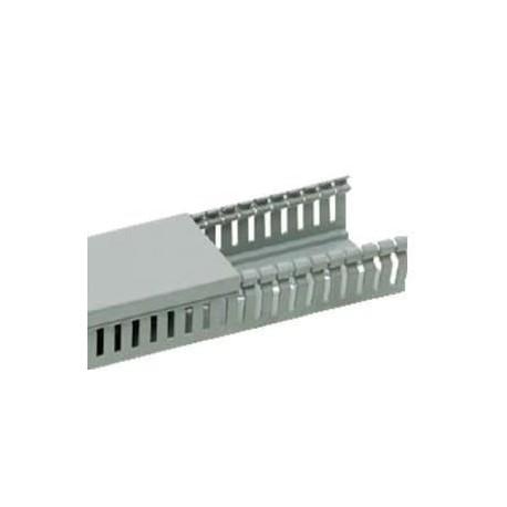 Canal cablu PVC perforat 40X60MM 2M/BUC, gri - Canalux